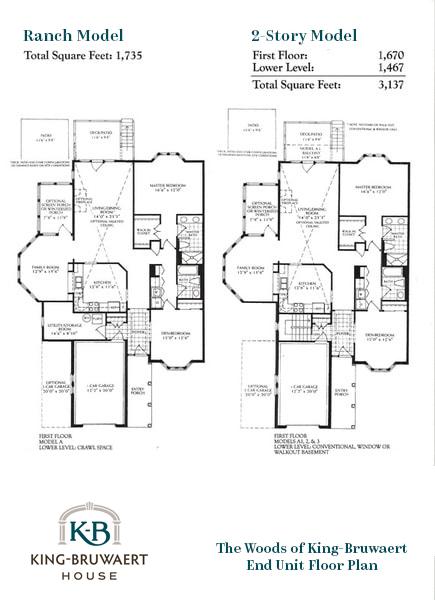 Woods end unit floor plan wireframe.